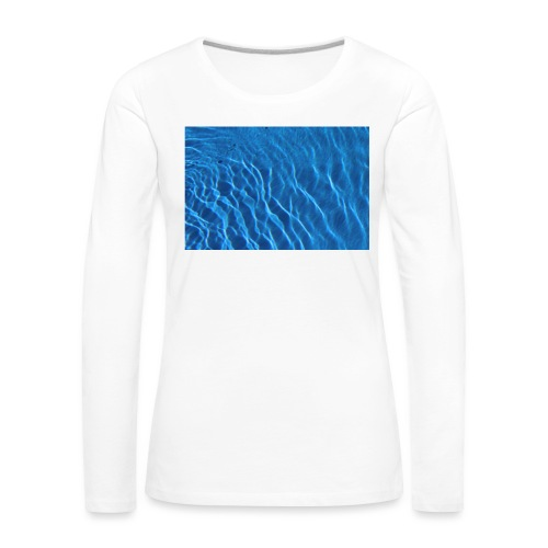 Water t shirt - Premium langermet T-skjorte for kvinner