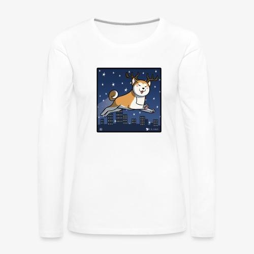 Akita natalizio 2 s png - Maglietta Premium a manica lunga da donna