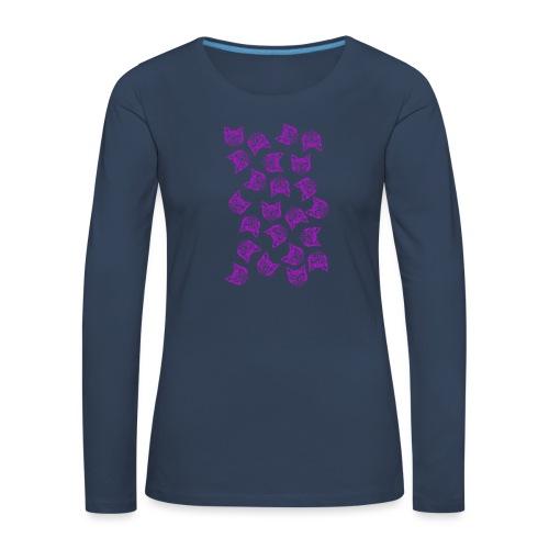 Magenta Mollys - Naisten premium pitkähihainen t-paita