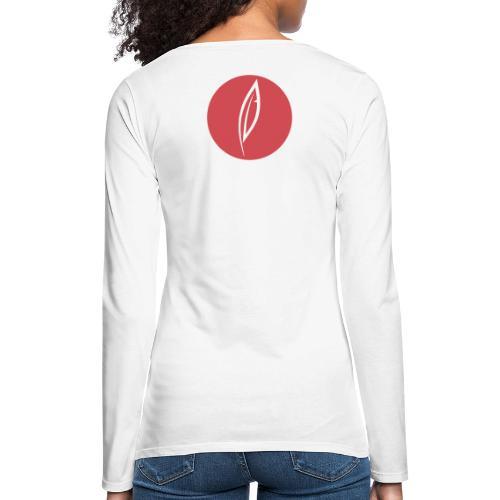 Logo - Rond rouge (dos) - T-shirt manches longues Premium Femme