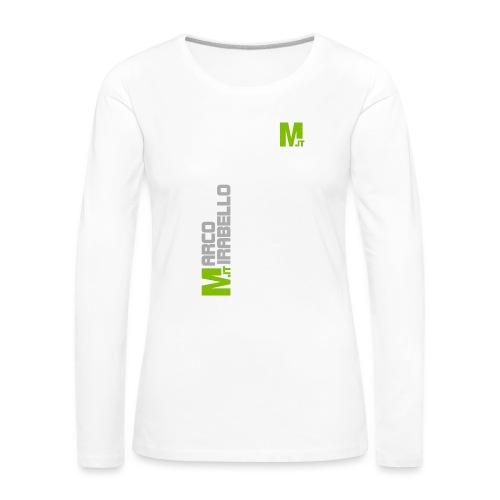 Marco Mirabello - Maglietta Premium a manica lunga da donna