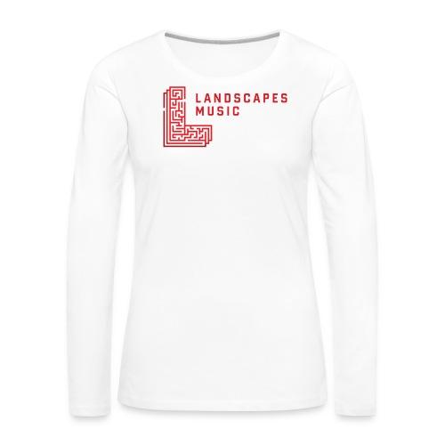 Landscapes Music - W/R - Women's Premium Longsleeve Shirt