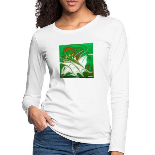 TIAN GREEN Mosaik CG002 - quaKI - Frauen Premium Langarmshirt