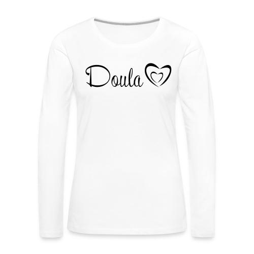 doula polkuna sydämet - Naisten premium pitkähihainen t-paita