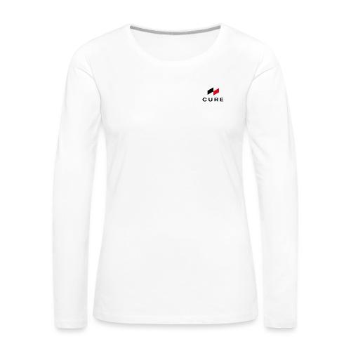 Logo + Text (classic) - Frauen Premium Langarmshirt