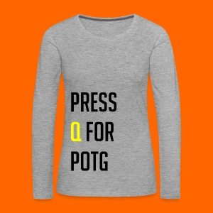 Press Q for play of the game - Women's Premium Longsleeve Shirt