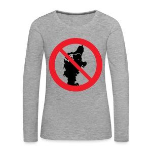 Jylland forbudt - Dame premium T-shirt med lange ærmer
