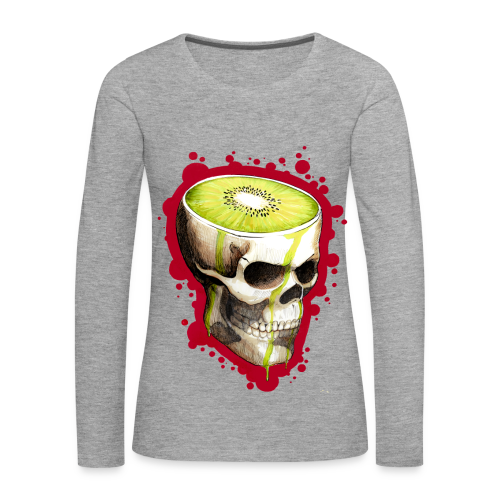 Czacha Kiwi - Koszulka damska Premium z długim rękawem