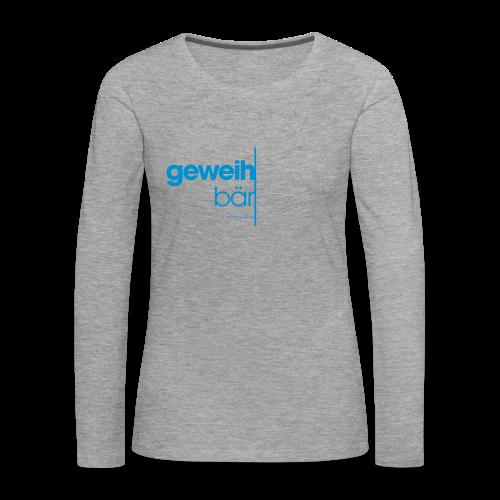 geweihbär 2019 - Frauen Premium Langarmshirt