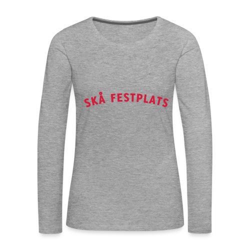 Skå Festplats Logotyp Röd - Långärmad premium-T-shirt dam