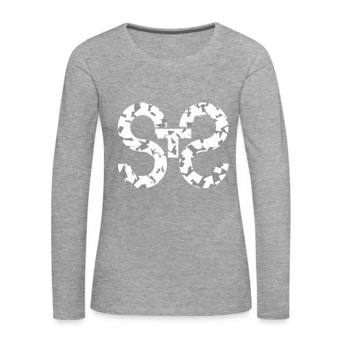 White Arrow - Maglietta Premium a manica lunga da donna