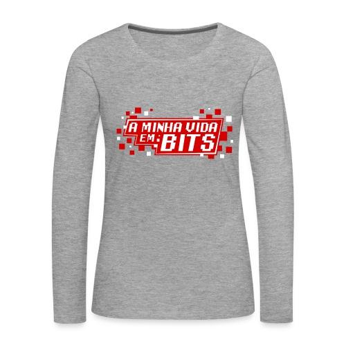 AMinhaVidaemBits Logo - Women's Premium Longsleeve Shirt