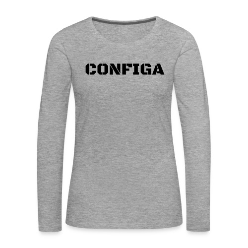 Configa Logo - Women's Premium Longsleeve Shirt