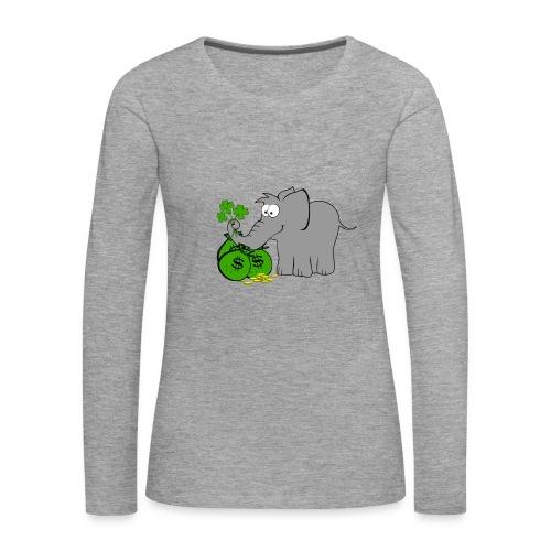Der Gewinnofant - Frauen Premium Langarmshirt