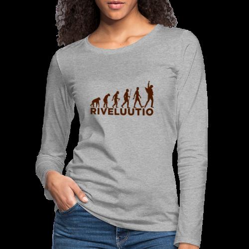 Riveluutio - Naisten premium pitkähihainen t-paita
