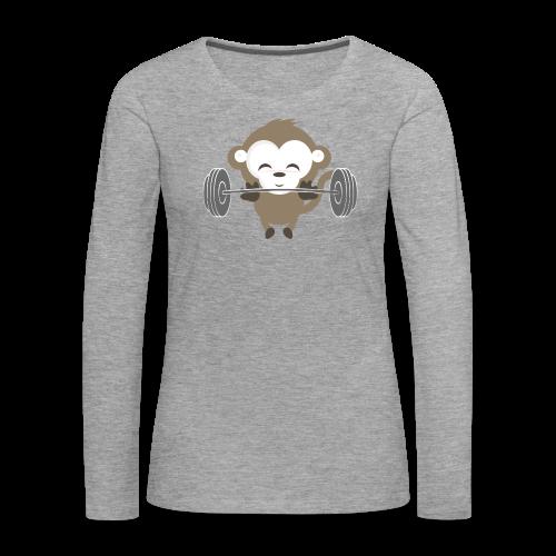 Fitnessmonkey neu - Frauen Premium Langarmshirt