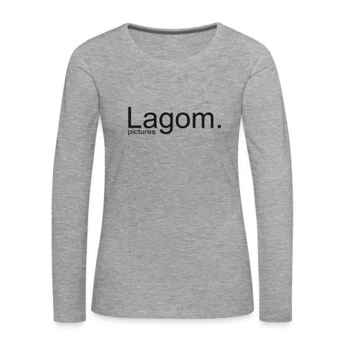 Lagom Pictures Logo Dark - Women's Premium Longsleeve Shirt