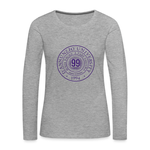 99 COSSE LOGO - Maglietta Premium a manica lunga da donna