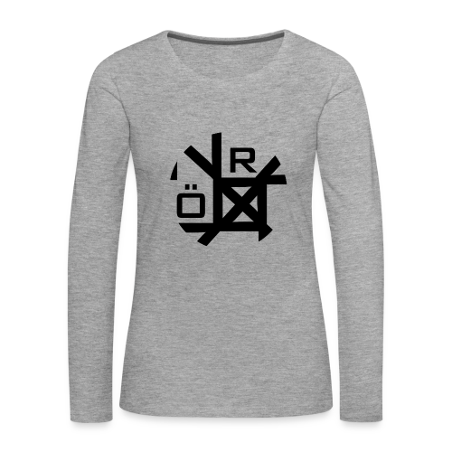 Nörthstat Group™ TecH | iCon - WHT.Knapsack - Women's Premium Longsleeve Shirt