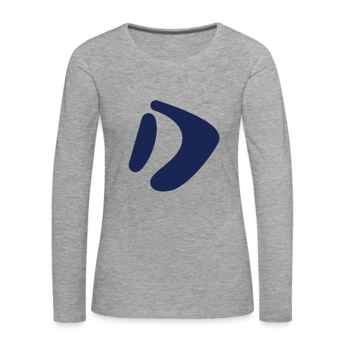 Logo D Blue DomesSport - Frauen Premium Langarmshirt