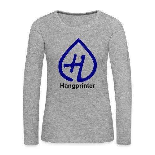 Hangprinter logo and text - Långärmad premium-T-shirt dam