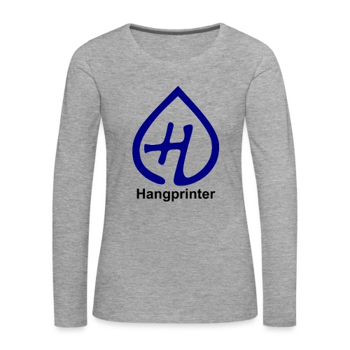 Hangprinter logo and text - Långärmad premium-T-shirt dam
