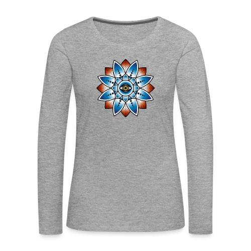 Psychedelisches Mandala mit Auge - Frauen Premium Langarmshirt
