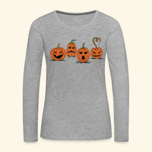 Pumpkin gear - Pumpkin gear on Halloween - Women's Premium Longsleeve Shirt
