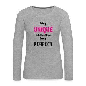 being UNIQUE - Frauen Premium Langarmshirt