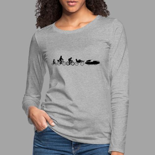 Bicycle evolution black Quattrovelo - Naisten premium pitkähihainen t-paita