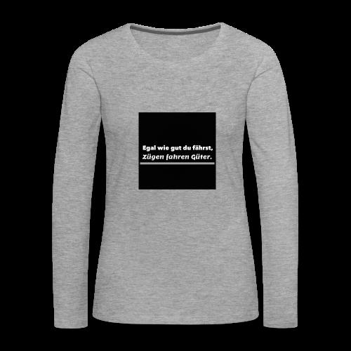 T-Shirt - Vrouwen Premium shirt met lange mouwen