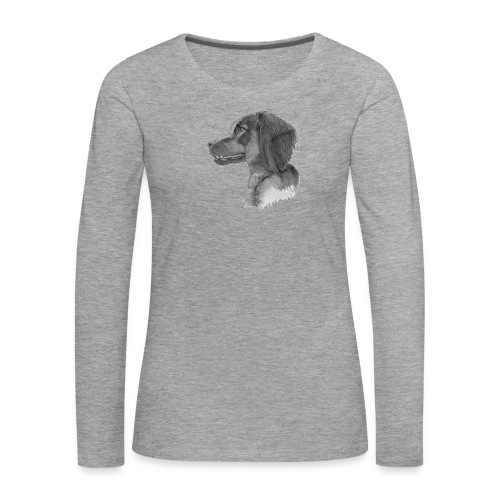 fieldTrialSpaniel - Dame premium T-shirt med lange ærmer