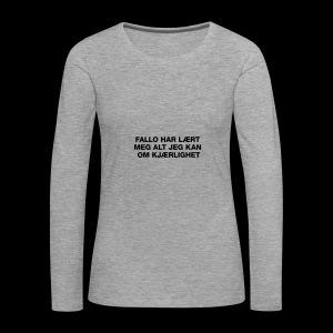 F-H-L-M-A-J-K-O-K-GENSER - Premium langermet T-skjorte for kvinner