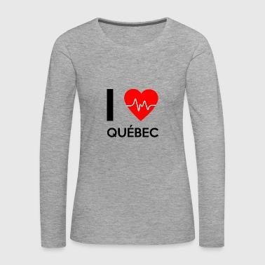 J'aime Québec - J'adore Québec - T-shirt manches longues Premium Femme