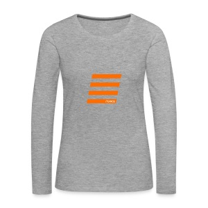 Orange Bars - Frauen Premium Langarmshirt