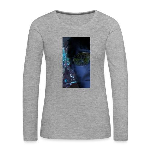 Cyberpunk - Fly verkligheten med en T-shirt - Långärmad premium-T-shirt dam