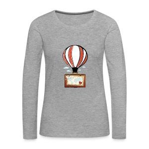 CUORE VIAGGIATORE Gadget per chi ama viaggiare - Maglietta Premium a manica lunga da donna