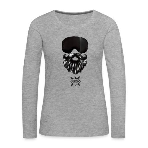 Beard mask - Camiseta de manga larga premium mujer
