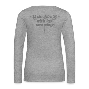 She flies... - Frauen Premium Langarmshirt