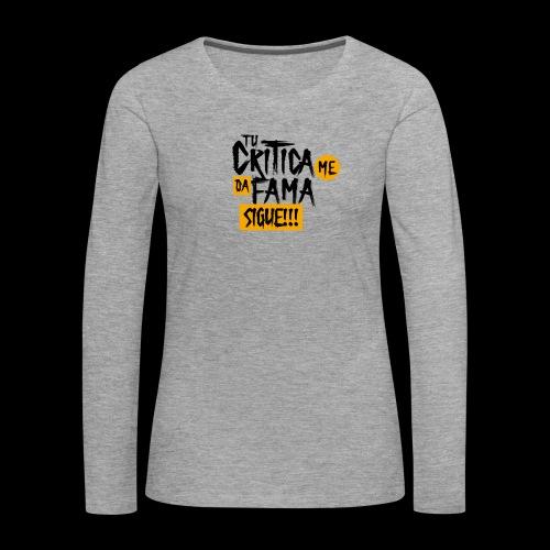 CRITICA - Camiseta de manga larga premium mujer