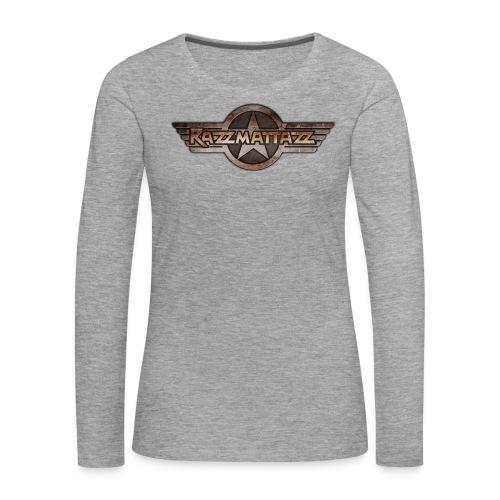 Razzmattazz Logo Fluegel und Schriftzug png - Frauen Premium Langarmshirt