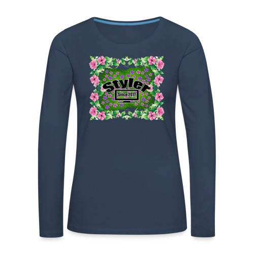 Styler Bloemen Design - Vrouwen Premium shirt met lange mouwen