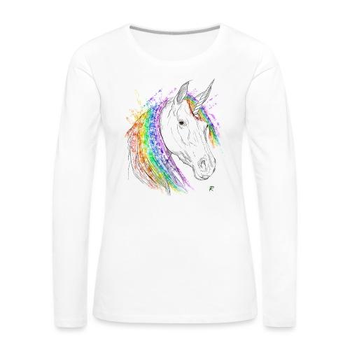 Unicorno - Maglietta Premium a manica lunga da donna