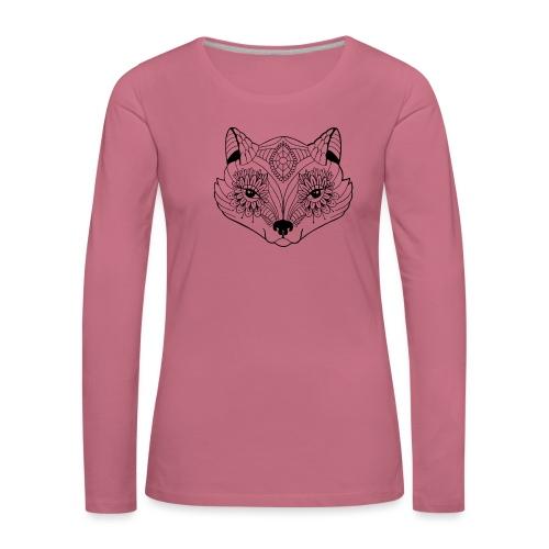 mandalafox - Naisten premium pitkähihainen t-paita