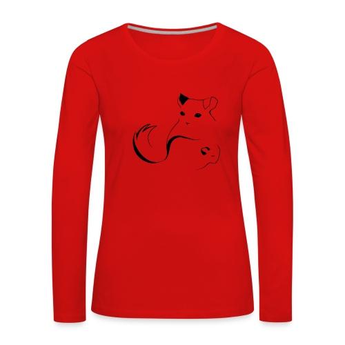 logo erittain iso mustana 1 png - Naisten premium pitkähihainen t-paita
