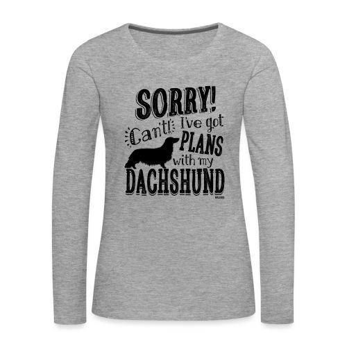 Plans Doxie LH B - Naisten premium pitkähihainen t-paita