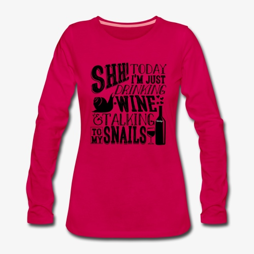 SHH Snails Black - Naisten premium pitkähihainen t-paita