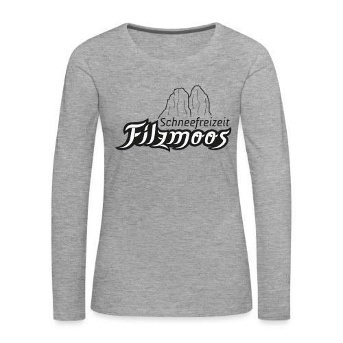 Motiv schwarz weiß - Frauen Premium Langarmshirt