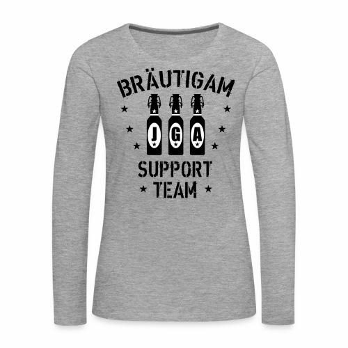 03 JGA Bierflaschen Bräutigam Support Team - Frauen Premium Langarmshirt