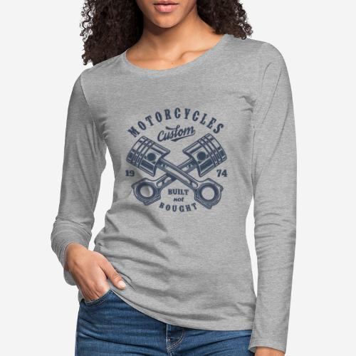 Motorrad benutzerdefinierte Vintage Biker - Frauen Premium Langarmshirt